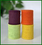 Farbige Jutefaser-Leinwand-Tuch-Rolle
