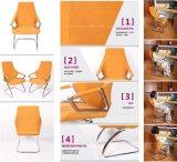 Lujo especial en forma de oficina cubierta de tela silla ajustable