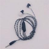 しまのあるラインクリップ(XSEJ-012)が付いている携帯電話のためのイヤホーンの耳のヘッドセットを隔離する極度の低音のステレオの騒音