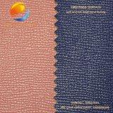 Nettes Chemiefasergewebe PU-Leder für Schuh mit geprägter Oberfläche Fpe17m6g