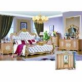 Античная кровать для классицистической мебели спальни и домашней мебели (W812)