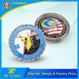 Monete del ricordo placcate rame dell'oggetto d'antiquariato di alta qualità personalizzate professionista con la riga obliqua bordo (XF-CO32)