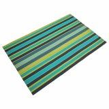Tabletop Placemat tecido PVC das listras para a HOME & o restaurante