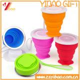 Copo Foldable de venda quente do silicone do produto comestível da cor dos doces de Amazon para o curso (XY-SC-003)