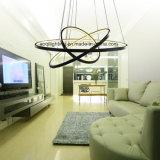 Luz pendiente moderna de acrílico redonda de 3 anillos LED
