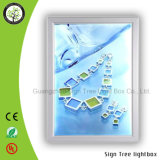 Casella chiara di pubblicità acrilica del blocco per grafici di alluminio a schiocco sottile del LED