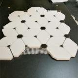 壁または床のための自然なThassosの白い大理石のモザイク・タイル