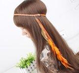 Fasce eleganti dei capelli della piuma del pavone di modo di Headwears delle donne retro