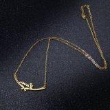 ملكة نمط مجوهرات [ستينلسّ ستيل] زهرة مدلّاة حرف عقد