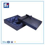 Rectángulo de regalo impreso modificado para requisitos particulares del papel hecho a mano para la pila de discos de la ropa