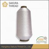 Tela de plata con hilos metálicos para el vestido bordado