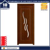 Personnaliser la porte en bois intérieure de composé de placage en bois solide de PVC