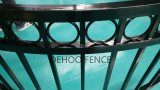 Cerca protectora del negro del lustre de Ce/SGS y decorativa combada calidad del balcón