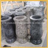 Flor de granito esculpindo vasco de monumento / vaso de lápide para funerário