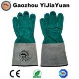 Gant industriel de travail de soudure de protection en cuir pour la soudeuse