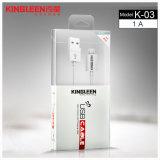 Kingleen vorbildliches Mikro-Daten-Kabel 1.2m &#160 USB-K-03; für Samsung/HTC