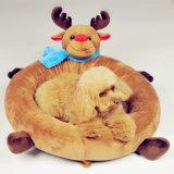 크리스마스 개 제품은 우단 개 패드 순록 애완 동물 침대를 무리를 지었다