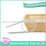 Pointeaux de tricotage interchangeables circulaires double en métal bon marché aigu à vendre