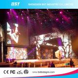 Pantalla de interior negra delgada estupenda del alquiler LED del aluminio P5 SMD2121 LED para la demostración del concierto