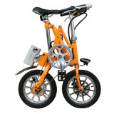 Bicicleta plegable del acero de carbón de 16 pulgadas/bici eléctrica de la batería de la bicicleta/de litio/bici plegable fácil