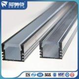Profil en aluminium anodisé de la forme DEL de la norme de l'OIN U avec la couverture