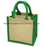 Sacolas de compras de juta reutilizáveis personalizadas de alta qualidade impressa personalizada