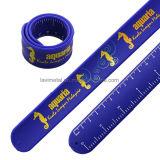 Wristband colorido engraçado feito sob encomenda do bracelete da régua da batida do silicone