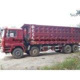 Caminhão de Tipper 8*4 de Shacman Delong da segunda mão