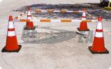 ABS Plástico Retráctil Cono del Tráfico Barra de Defensa para la Seguridad Vial
