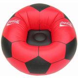 Sofá inflable cómodo rojo del balompié del PVC para la promoción