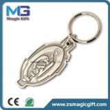 2D Metall kundenspezifisches Keychain mit Antike beendete