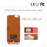 Dietro con l'alimentazione elettrica mobile per il iPhone 6plus-6s 5.5 6000mAh-12000mAh