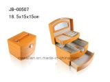 Le cadre de bijou en cuir d'unité centrale de jaune de luxe