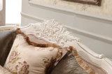 Sede di amore classica dell'oggetto d'antiquariato dello strato del tessuto con il blocco per grafici di legno per il salone