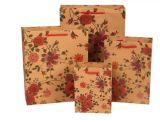 Bolsos de compras reciclados de Kraft, fábrica del rectángulo de papel del regalo