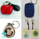 Etiquetas personalizadas de PVC / Epoxy / Leather RFID Keyfobs / Key Card