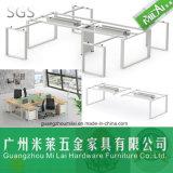 Neuer moderner Entwurfs-geöffneter modularer Büro-Arbeitsplatz, Büro-Schreibtisch mit Stahlfuß