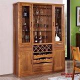 Шкаф красного вина дуба самомоднейшей домашней мебели твердый (GSP9-055)