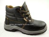 De echte Schoenen van de Veiligheid van het Leer met de Teen van het Staal en Plaat, Rubber of Pu Outsole