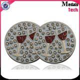 Marcadores magnéticos da esfera de golfe do grampo do chapéu do metal barato do ímã