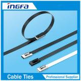 Attaches de câble en acier inoxydable colorées autobloquantes pour bandes fixées