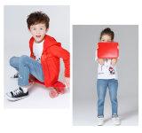 余暇の刺繍が付いているまっすぐな子供のデニムの男の子および女の子の伸張のジーンズ
