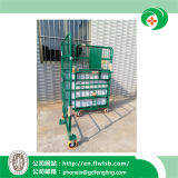 Gaiola dobrável personalizada do rolo de aço para o armazenamento do armazém
