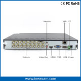 16CH 720p Tvi или Ahd или 960h гибридная обеспеченность DVR
