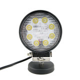 4 luz campo a través impermeable redonda del trabajo de la pulgada 24W LED