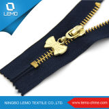 Zipper do metal de Jean do Gloden-Bronze
