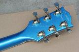 Musique de Hanhai/guitare électrique bleue avec la signature de Bbking (ES-335)