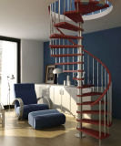Escalera espiral de madera de acero del nuevo pasamano del diseño
