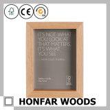 """frame estando da foto do retrato da madeira 5 """" X7 """" contínua para o presente"""