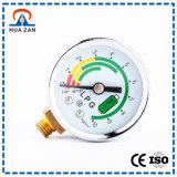 Diferença da pressão do instrumento da medida na função do piezômetro e do manómetro